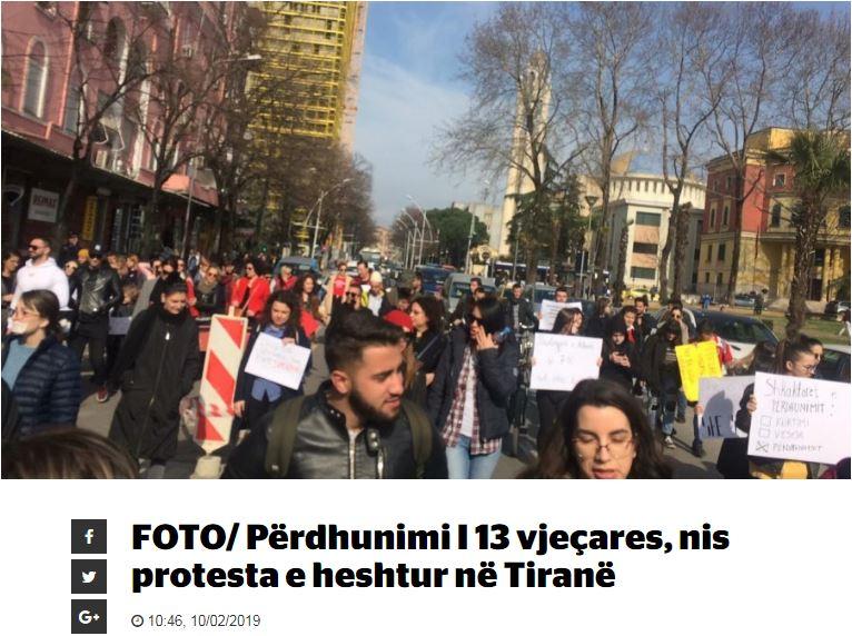 Σάλος στην Αλβανία για τον βιασμό 13χρονης από 14χρονους | tovima.gr