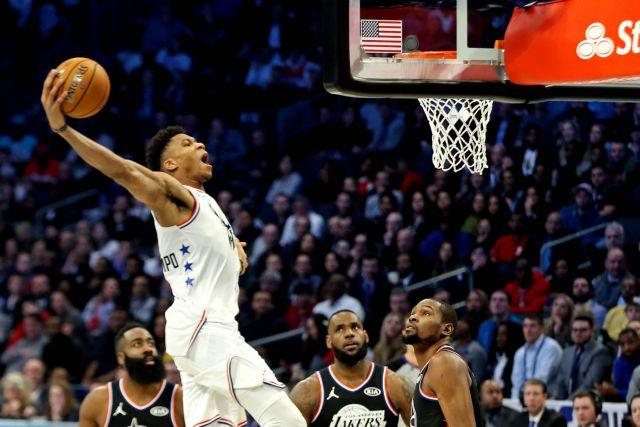 NBA All Star Game 2019: «Μαγικός» ο Αντετοκούνμπο, νικητής ο ΛεΜπρόν | tovima.gr