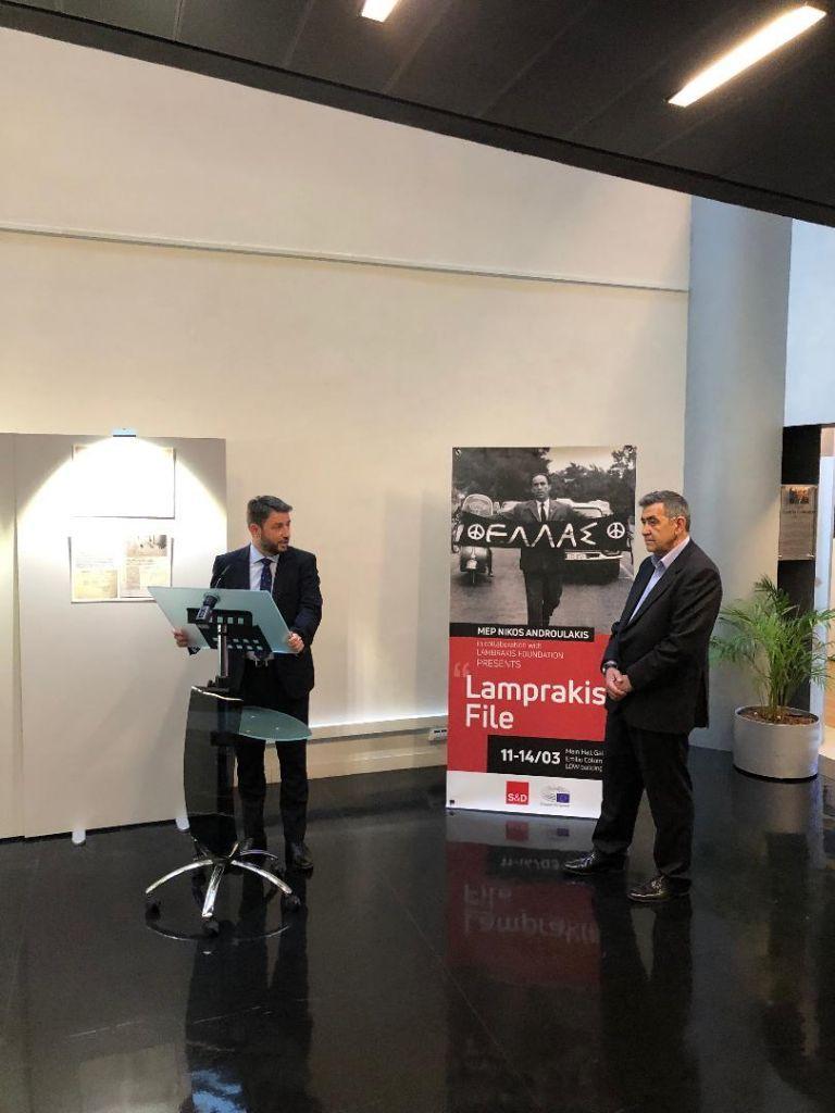 Συγκίνηση στην έκθεση για τον Γρηγόρη Λαμπράκη στην Ευρωβουλή | tovima.gr