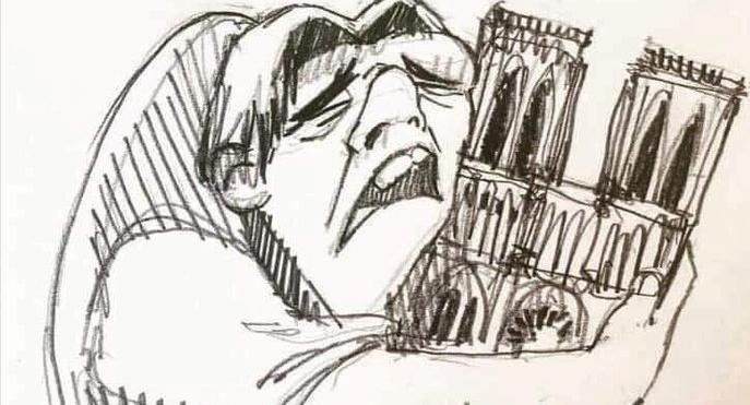 Συγκινητικό σκίτσο: Ο Κουασιμόδος θρηνεί την Παναγία των Παρισίων   tovima.gr