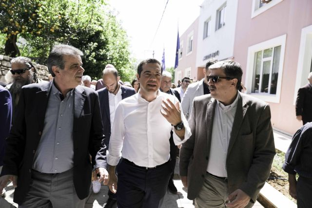 Tsipras touts intention to seek German WWII reparations on campaign stop in Crete | tovima.gr