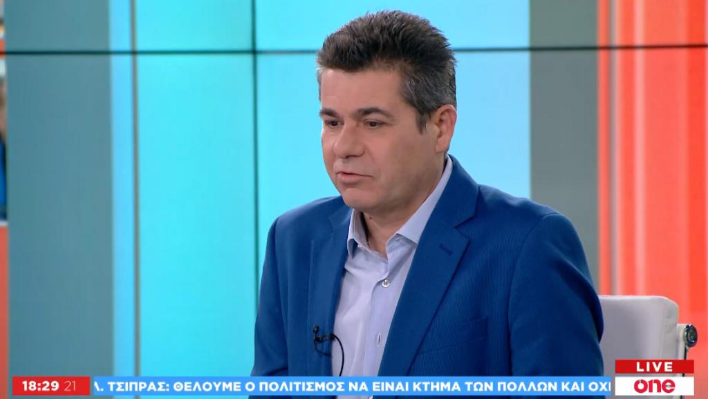 ad44ecbbe529 Δ. Νασόπουλος στο One Channel  Μη αναστρέψιμο το προεκλογικό κλίμα ...