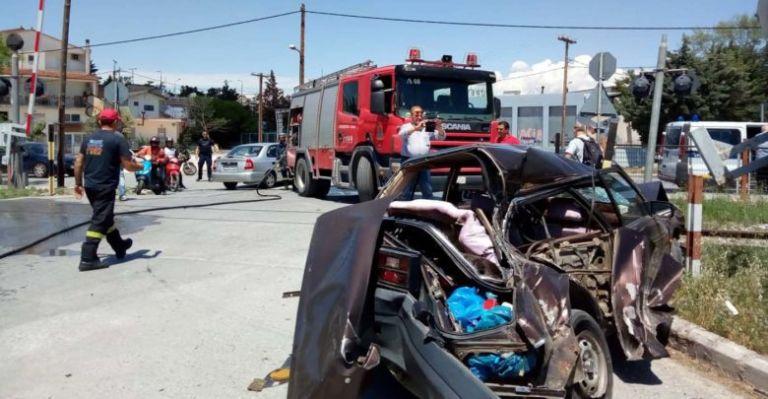 Λάρισα: Τραυματισμός από  σύγκρουση τρένου με αυτοκίνητο | tovima.gr