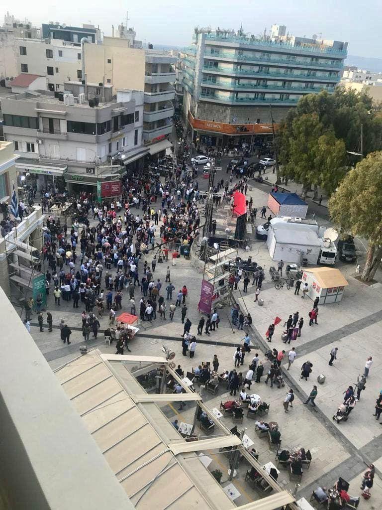 Τσίπρας – Ηράκλειο: Η πλατεία ήταν άδεια | tovima.gr