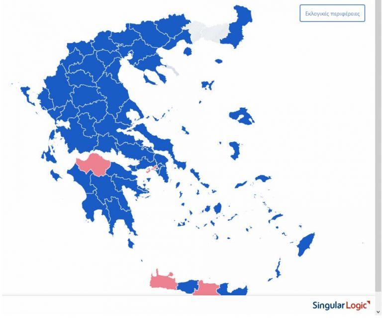 Μπροστά η ΝΔ στις περισσότερες περιφέρειες της χώρας | tovima.gr