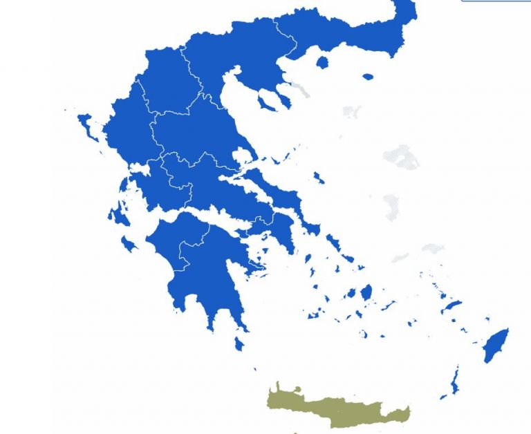 Επικράτηση ΝΔ σε 11 από τις 13 περιφέρειες της χώρας | tovima.gr