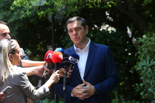 Tsipras uses ND, Brussels as bogeymen who will bring harsh austerity | tovima.gr