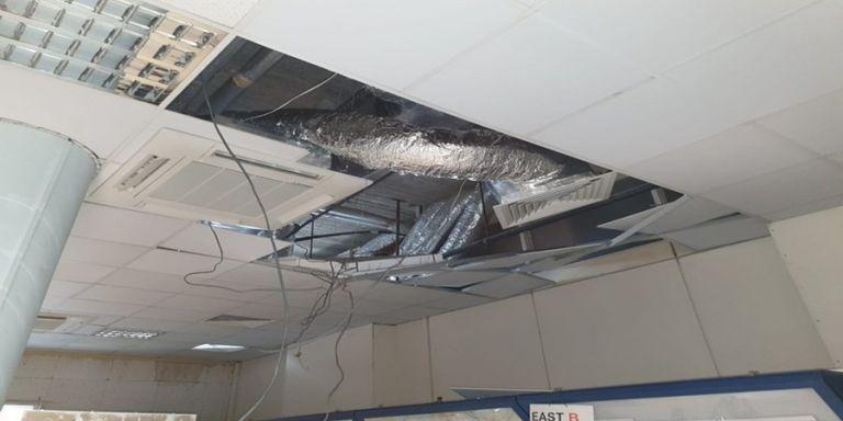Λευκωσία: Ένα τραυματίας από κατάρρευση μέρους της οροφής του αεροδρομίου  [Εικόνες]   tovima.gr