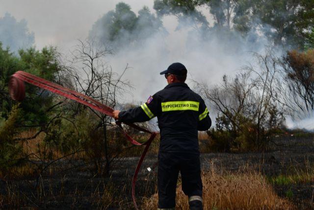 Μεγάλη φωτιά στα Ίσθμια Κορινθίας | tovima.gr