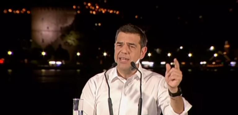 «Πρωτοτυπία» Τσίπρα: Μιλούσε στη Θεσσαλονίκη και… ταυτόχρονα έδινε συνέντευξη στην τηλεόραση | tovima.gr