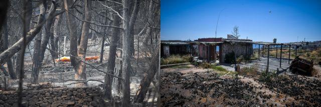 Τραγωδία στο Μάτι: 20 καρέ με το «πριν» και το «μετά» | tovima.gr