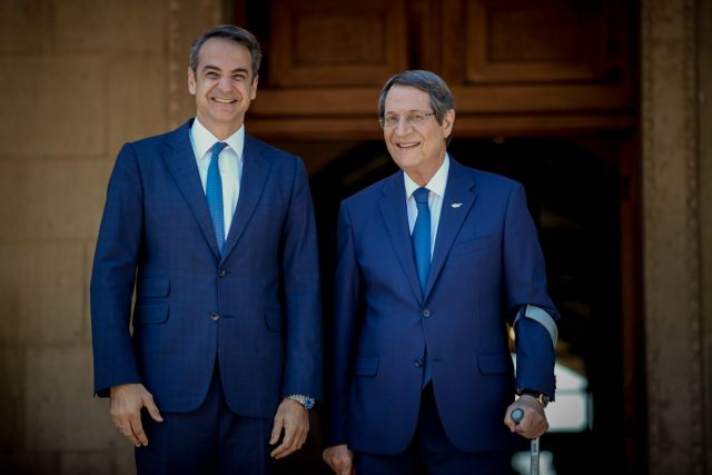 Turkey must stop illegal drilling before Cyprus talks say Anastasiades, Mitsotakis | tovima.gr