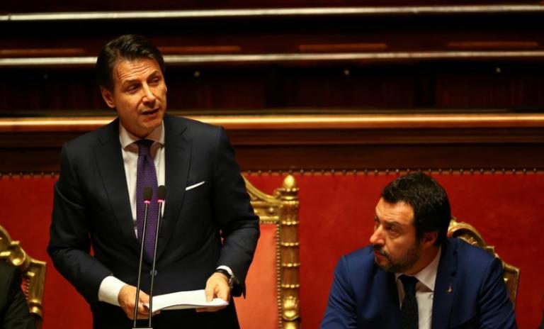 Σαλβίνι προς Κόντε: Ή αλλαγή πλεύσης στην κυβέρνηση ή εκλογές | tovima.gr