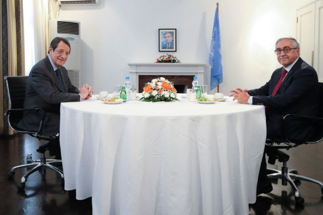 Rough start in Anastasiades-Akinci talks on Cyprus problem | tovima.gr
