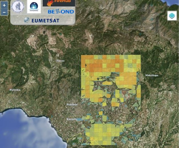 Εύβοια: Το δορυφορικό προφίλ από τις φλόγες που κατακαίουν το δάσος | tovima.gr