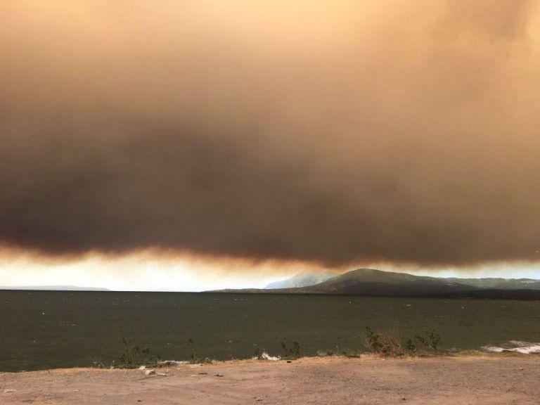 Φωτιά στην Εύβοια: Γέμισε στάχτη η θάλασσα στη Χαλκίδα | tovima.gr