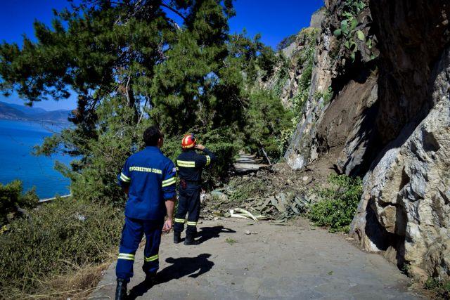 Πτώση βράχων στην Αρβανιτιά Ναυπλίου – Από τύχη δεν υπήρξαν θύματα | tovima.gr