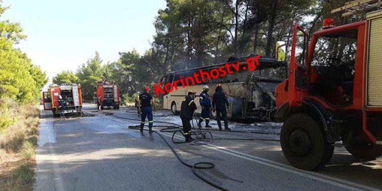 Φωτιά σε λεωφορείο στην Εθνική Οδό Πρέβεζας – Ηγουμενίτσας [Εικόνες]   tovima.gr