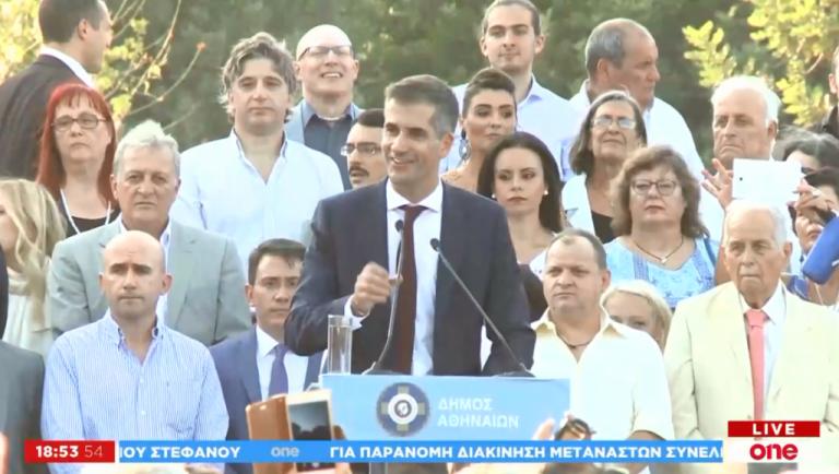 Η πρώτη ομιλία του Κ. Μπακογιάννη ως δήμαρχος Αθηναίων | tovima.gr