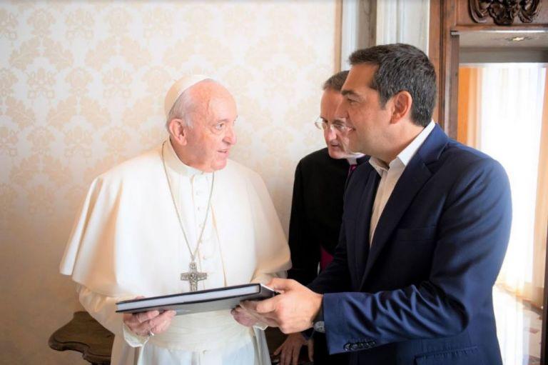 Η αφιέρωση του Πάπα στον Τσίπρα | tovima.gr
