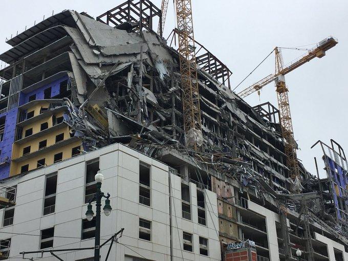 Νέα Ορλεάνη : Η στιγμή που καταρρέι το ξενοδοχείο | tovima.gr