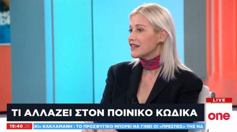 Η Ν. Πετρούλια στο One Channel για τις αλλαγές στον Ποινικό Κώδικα | tovima.gr