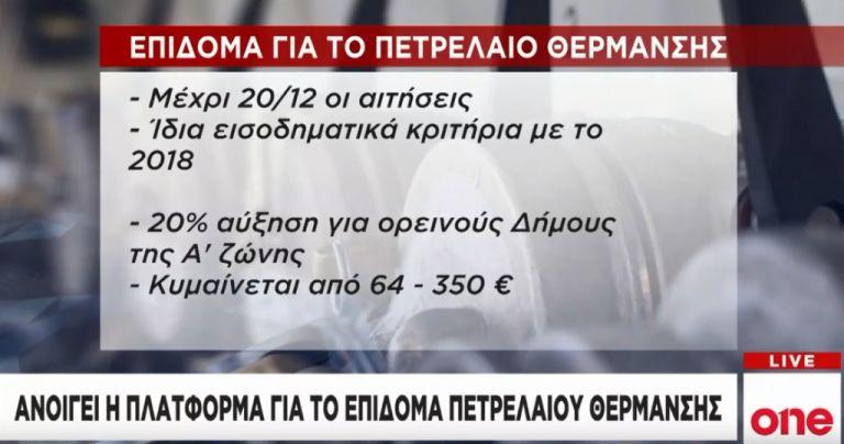 Επίδομα θέρμανσης: Ανοίγει η πλατφόρμα   tovima.gr