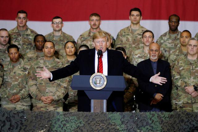 Αιφνιδιαστική επίσκεψη Τραμπ στο Αφγανιστάν   tovima.gr