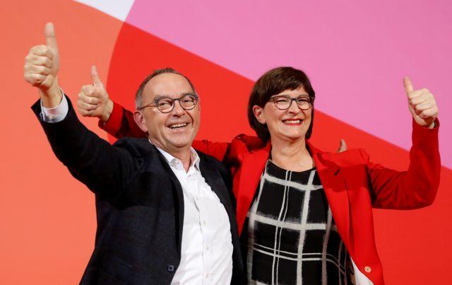 Γερμανία : Αντιδράσεις για τη νέα ηγεσία του SPD   tovima.gr