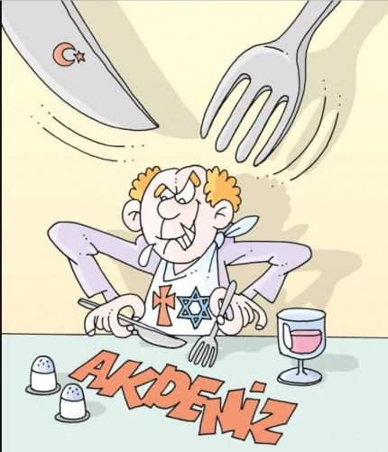 Τουρκία: Αντισημιτικό και αντιχριστιανικό σκίτσο για τις θαλάσσιες ζώνες | tovima.gr