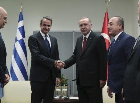 In no-holds barred talks Mitsotakis, Erdogan confirm existing disputes | tovima.gr