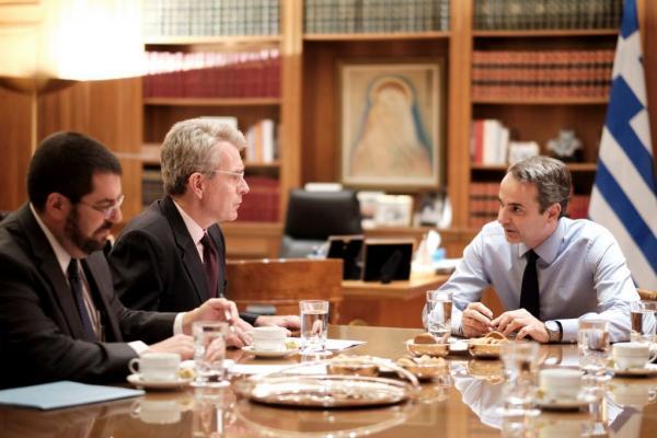 Συνάντηση Μητσοτάκη – Πάιατ για ελληνοτουρκικά και επίσκεψη στις ΗΠΑ | tovima.gr