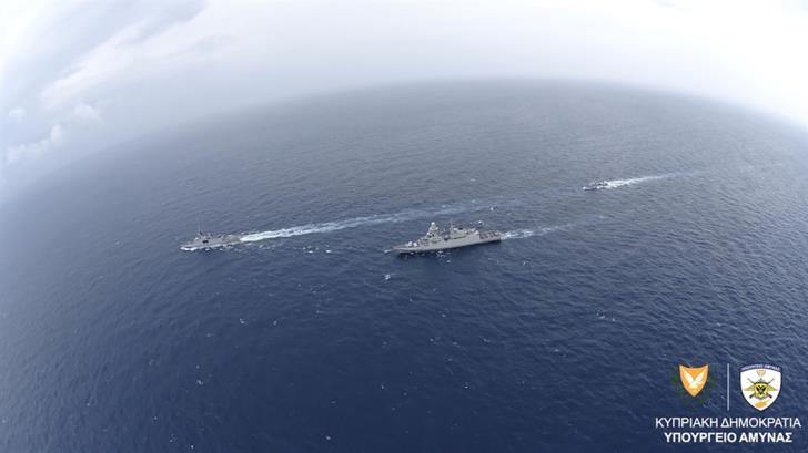 Ολοκληρώθηκε η ναυτική άσκηση Κύπρου, Ιταλίας και Γαλλίας στη θαλάσσια περιοχή Νότια της Κύπρου (Εικόνες) | tovima.gr
