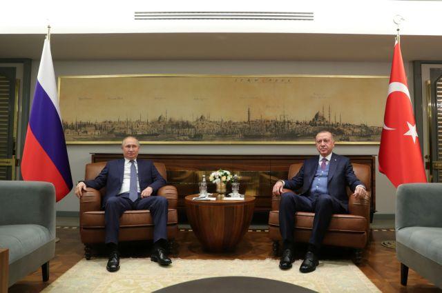 Συνάντηση Πούτιν–Ερντογάν: Εχουμε δικαίωμα παρέμβασης σε κάθε σχέδιο στην αν. Μεσόγειο, είπε ο τούρκος Πρόεδρος | tovima.gr
