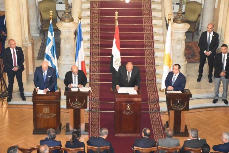 Πενταμέρης στο Κάιρο: Ηχηρό μήνυμα στην Τουρκία – Στην Κρήτη η επόμενη συνάντηση | tovima.gr