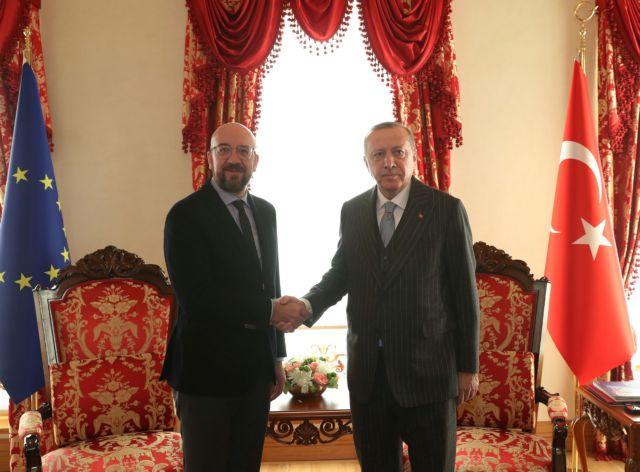 Σε αποκλιμάκωση σε Λιβύη και Μέση Ανατολή συμφώνησαν  Μισέλ – Ερντογάν | tovima.gr