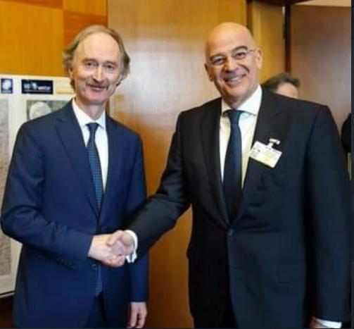 Την ελληνική στήριξη στο σχέδιο του ΟΗΕ για πολιτική λύση στη Συρία εξέφρασε ο Νίκος Δένδιας | tovima.gr