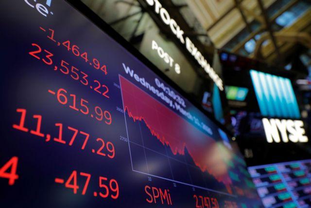 Κατέρρευσε η Wall Street – Η μεγαλύτερη πτώση μετά το κραχ του 1987 για τον Dow Jones   tovima.gr
