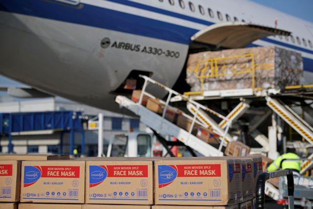 Εφθασε στην Ελλάδα υγειονομικό υλικό 18 τόνων από την Κίνα | tovima.gr