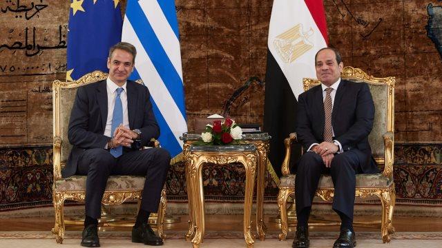 Τηλεφωνική επικοινωνία Μητσοτάκη με τον πρόεδρο της Αιγύπτου | tovima.gr