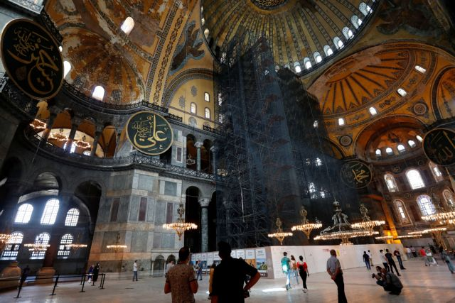Αγία Σοφία: Με κουρτίνες και ειδικό φωτισμού θα κρυφτούν οι αγιογραφίες | tovima.gr