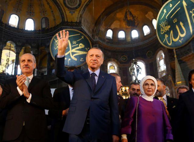 Ανυποχώρητος Ερντογάν για Αγία Σοφία: «Αίτημα του έθνους μας η μετατροπή σε τζαμί»   tovima.gr