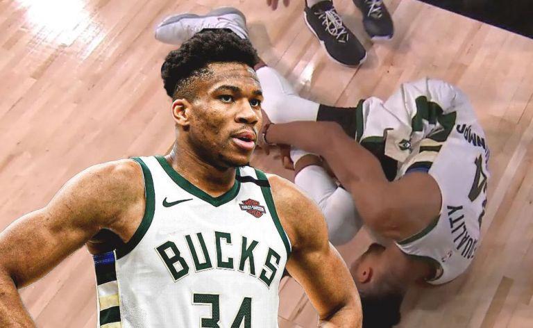 NBA : Έφυγε με προστατευτική μπότα ο Γιάννης – Αμφίβολος για το Game 5 | tovima.gr