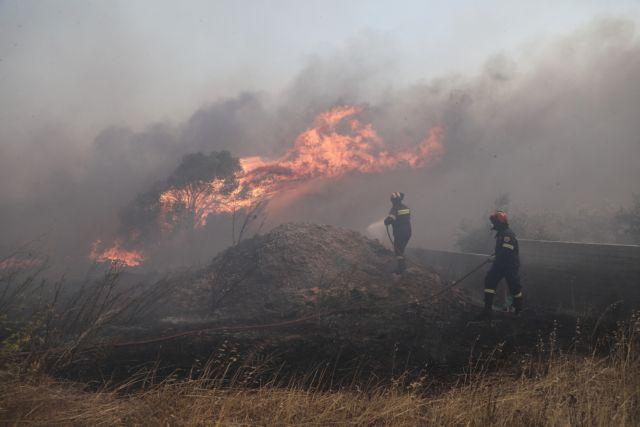 Ανεξέλεγκτη η φωτιά στα Καλύβια: Κάηκαν σπίτια – Εκκενώνονται οικισμοί | tovima.gr