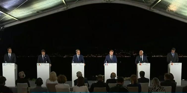 LIVE : Οι κοινές δηλώσεις Μητσοτάκη και των ηγετών της MED-7 στην Κορσική | tovima.gr