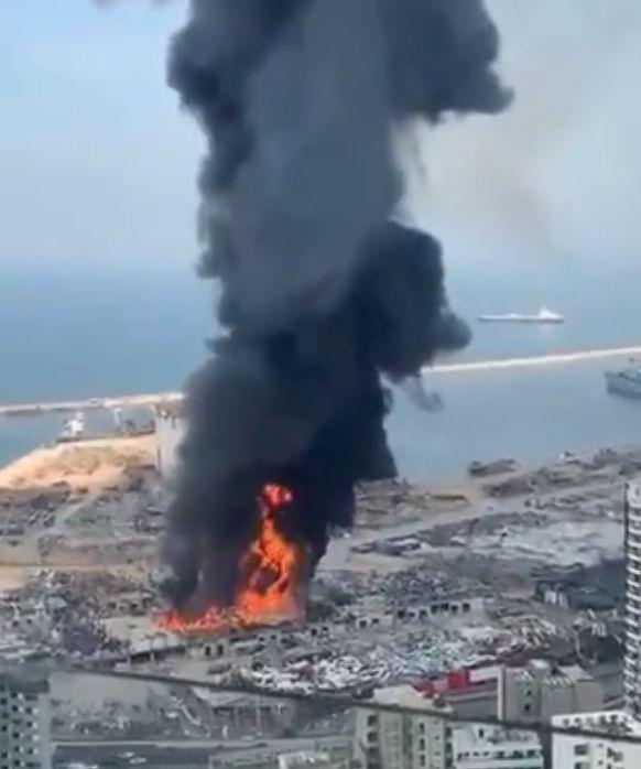 Βηρυτός : Νέα πυρκαγιά στο λιμάνι μετά τη φονική έκρηξη | tovima.gr