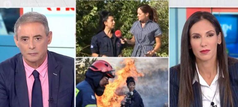 Στο MEGA η Πειραιώτισσα που έδωσε μάχη με τις φλόγες στην Ανάβυσσο | tovima.gr