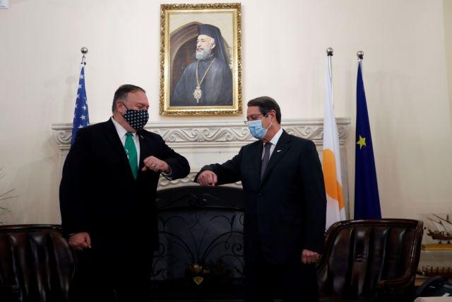 Πομπέο στην Κύπρο: Παραμένουμε ανήσυχοι για τις έκνομες δράσεις της Τουρκίας | tovima.gr