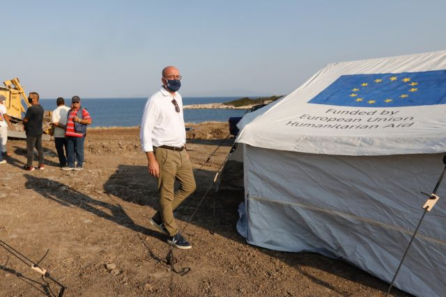 Στη Λέσβο ο Σαρλ Μισέλ: «Πρέπει να αναλάβουμε τις ευθύνες μας»   tovima.gr