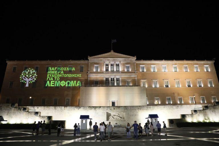 Η Βουλή των Ελλήνων 'φοράει' την πράσινη κορδέλα | tovima.gr